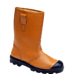 Tan Leather Safety Rigger With Fleecy Warm Lining (9102)