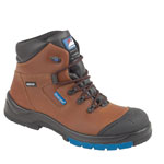 Brown Leather Fully Waterproof Safety Boot (5161)